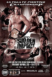 A poster or logo for UFC 42: Sudden Impact.