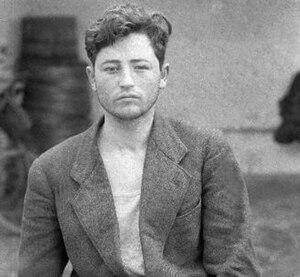 Vasil Laçi - Vasil Laçi on police photo before execution