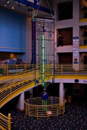 Water clock (Indianapolis) - Image: Waterclock Jan 2011