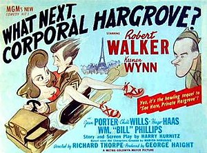 What Next, Corporal Hargrove? - Theatrical release poster