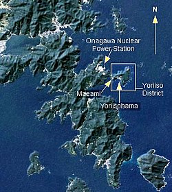 Location of Yoriisohama on the Oshika Peninsula