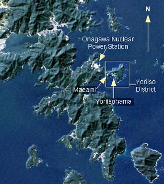 Oshika Peninsula - Location of Yoriisohama on the Oshika Peninsula