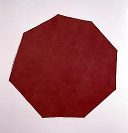 'Red Canvas' by Richard Tuttle, 1967, Corcoran Gallery of Art.jpg