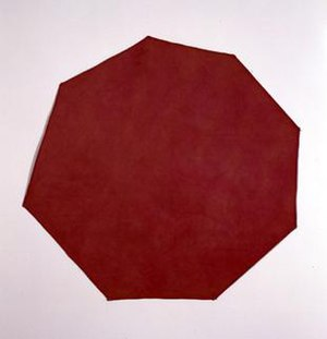 Late modernism - Richard Tuttle, Red Canvas, 1967