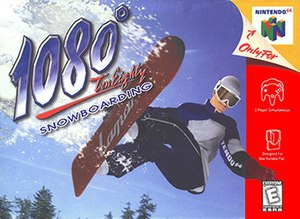 1080° Snowboarding - North American Nintendo 64 cover art