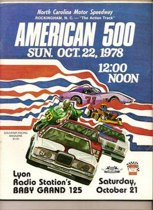 1978 American 500 - This is a program from the 1978 running of the American 500.