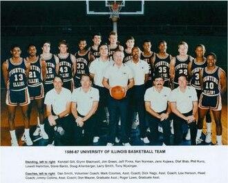 1986–87 Illinois Fighting Illini men's basketball team - Image: 1986–87 Illinois Fighting Illini men's basketball team