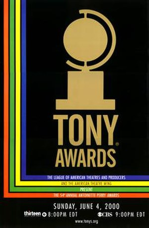 54th Tony Awards - Official poster for the 54th annual Tony Awards