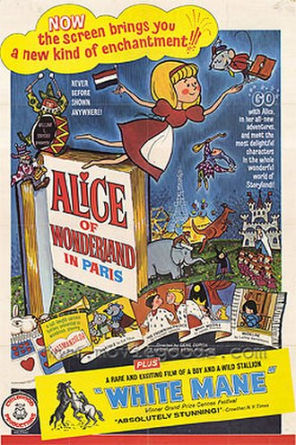 Alice of Wonderland in Paris - Original U.S. movie poster