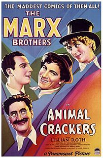 <i>Animal Crackers</i> (1930 film) 1930 film by Victor Heerman