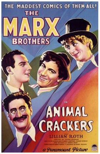 Animal Crackers (1930 film) - Theatrical release poster