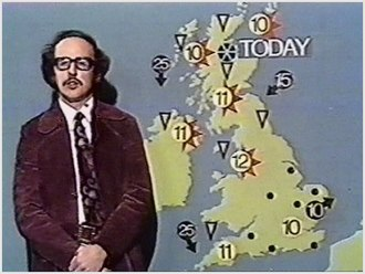 BBC Weather - Michael Fish presents a weather forecast in 1974.