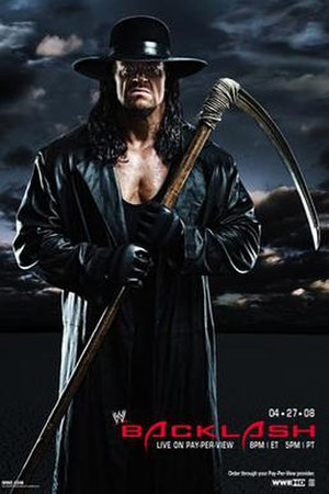 Backlash (2008) - Promotional poster featuring The Undertaker