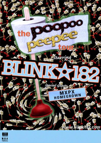 Dude Ranch (album) - Poster of Blink-182's PooPoo PeePee Tour