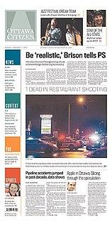 <i>Ottawa Citizen</i> English-language daily newspaper