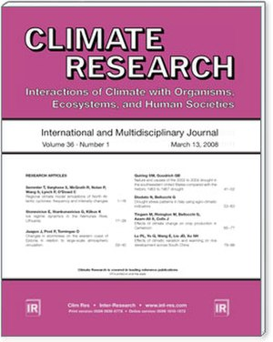 Climate Research (journal) - Image: C Rcover