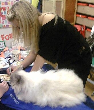 Helen Skelton - Helen Skelton signing autographs