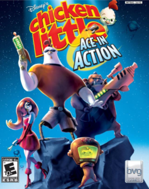 Disney's Chicken Little: Ace in Action - Image: Chicken Little Ace in Action video game cover