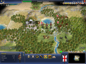 Civilization IV - Example of some of the units and 3D graphics unique to Civilization IV.