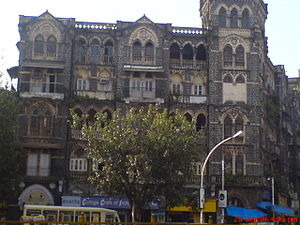 Colaba -  One of the Colonial-era buildings opposite Regal Cinema