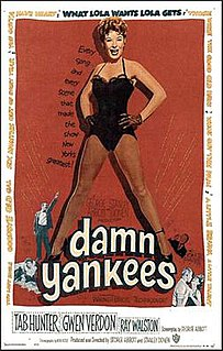 <i>Damn Yankees</i> (film) 1958 musical film made by Warner Bros