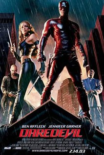 2003 movie based on the comic book directed by Mark Steven Johnson