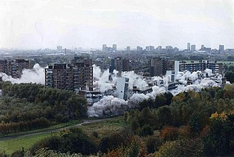 Kersal - Demolition of the Kersal flats in 1990