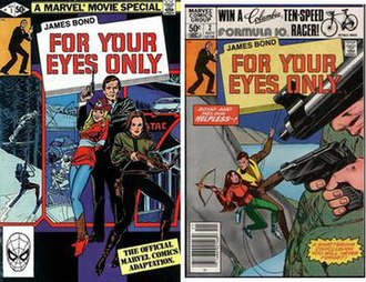 For Your Eyes Only (film) - Two-part For Your Eyes Only comic book adaptation by Marvel Comics