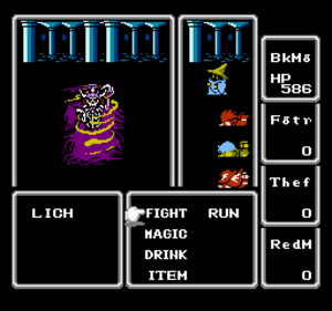 Final Fantasy (video game) - Image: Final Fantasy I Lich Battle