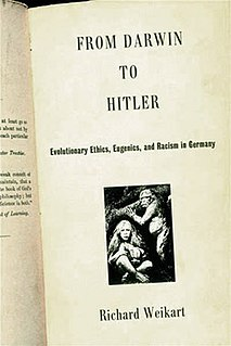 <i>From Darwin to Hitler</i> 2002 book by Richard Weikart
