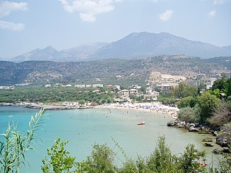 Stoupa - Kalogria, a beach just outside Stoupa
