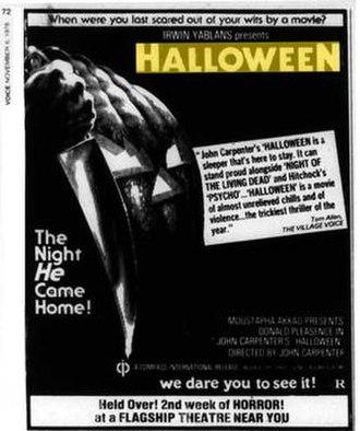 Halloween (1978 film) - Image: Halloween Ad Village Voice 1978