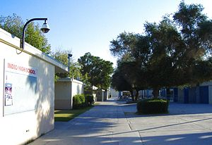 Indio High School - A typical day at Indio High School.