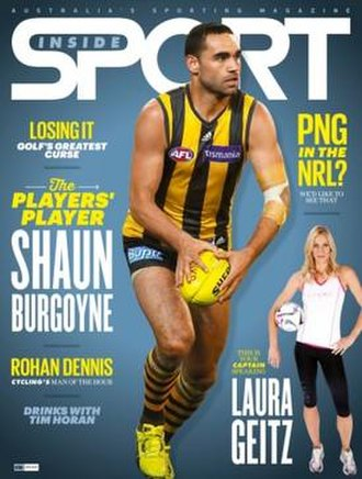 Inside Sport - Cover of April 2015 issue featuring Shaun Burgoyne