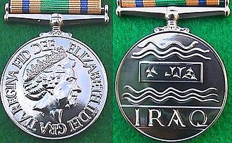Iraq Reconstruction Service Medal - Image: Iraq Reconstruction Service Medal
