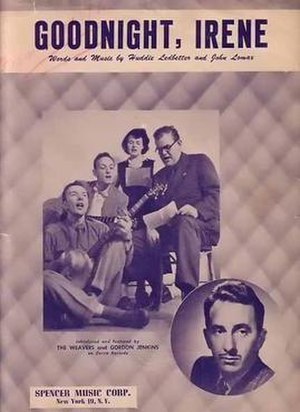"Goodnight, Irene - Sheet music for ""Goodnight, Irene"" by the Weavers"