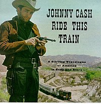 Cash dressed as a cowboy, inserting a bullet into a gun