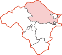 Knighton Rural District within Radnorshire