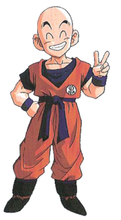 """Krillin Fictional character in the anime and manga franchise """"DragonBall""""."""
