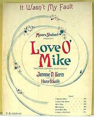 Love O' Mike - Sheet Music Cover