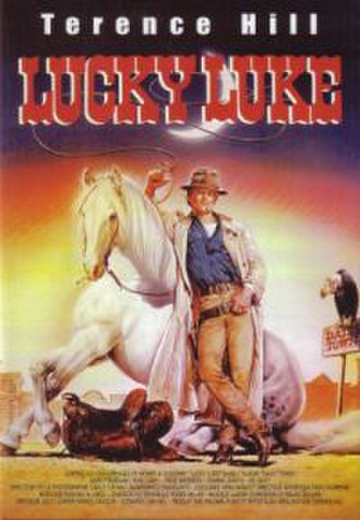 Lucky Luke - DVD cover for the live-action movie Lucky Luke, directed by and starring Italian actor Terence Hill.