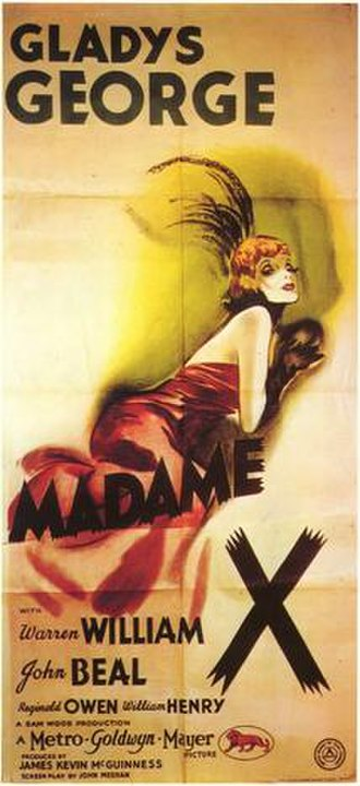 Madame X (1937 film) - Theatrical release poster