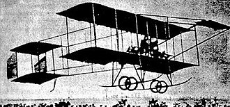 Bulgarian Air Force - Boris Maslennikov's airplane in flight, Sofia 1910