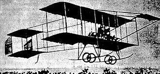 Bulgarian Air Force - Boris Maslennikov's airplane in flight, Sofia 1910