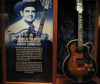 Merle Travis - Merle Travis and his Gibson Super 400 at the Country Music Hall of Fame