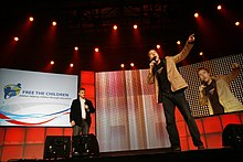 Free the Children founders Marc and Craig Kielburger at We Day 2008.
