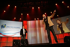 WE Charity - Free the Children founders Marc and Craig Kielburger at WE Day 2008.