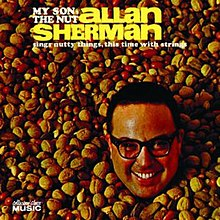 Sherman's face surrounded by mixed nuts with the album's title and artist superimposed