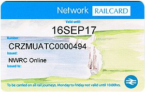 Network Railcard - Image: Network Railcard (2017)