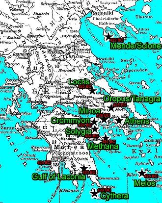 Nicias - Nicias' expeditions, before the Sicilian campaign.